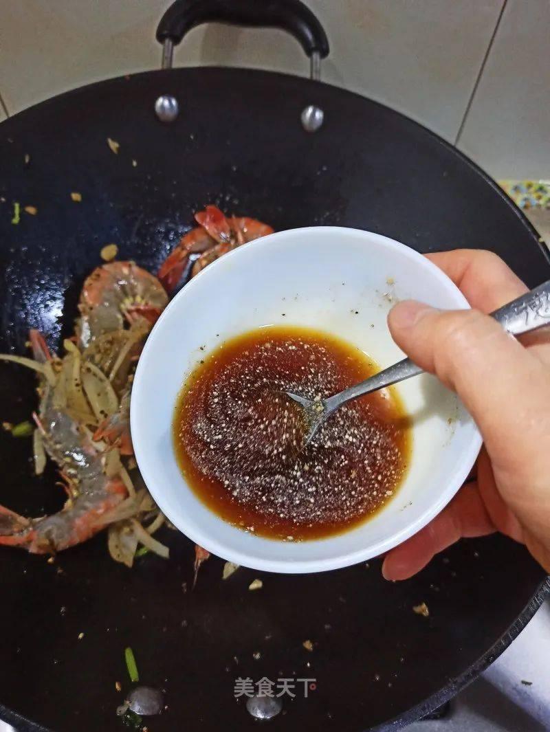 洋葱黑椒虎虾的做法