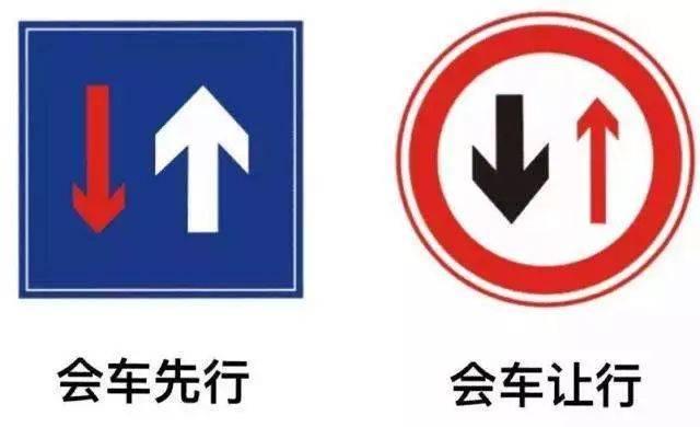 会车先行VS会车让行标志是什么意思