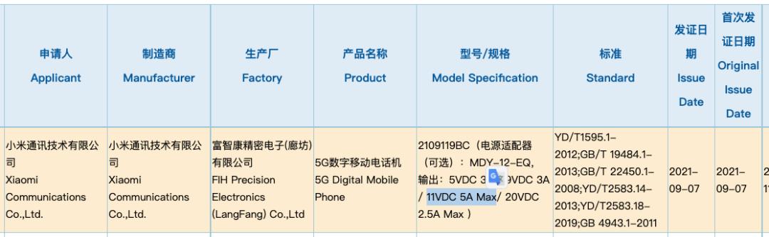 小米CC 11系列新机9月底发布 搭载骁龙778G,33W快充