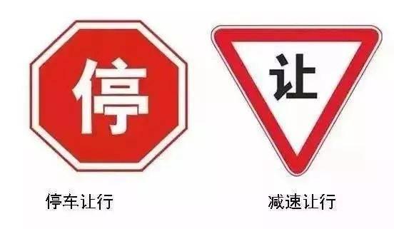 停车让行VS减速让行的交通标志怎么区分