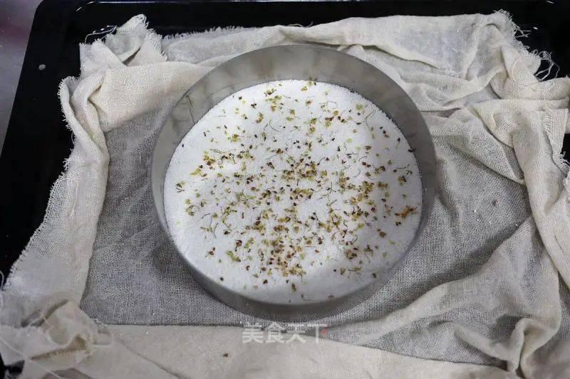 豆沙桂花大米松糕的制作方法
